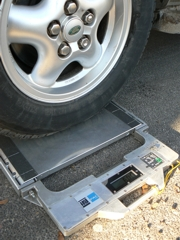 SAW Wheel Load Scale